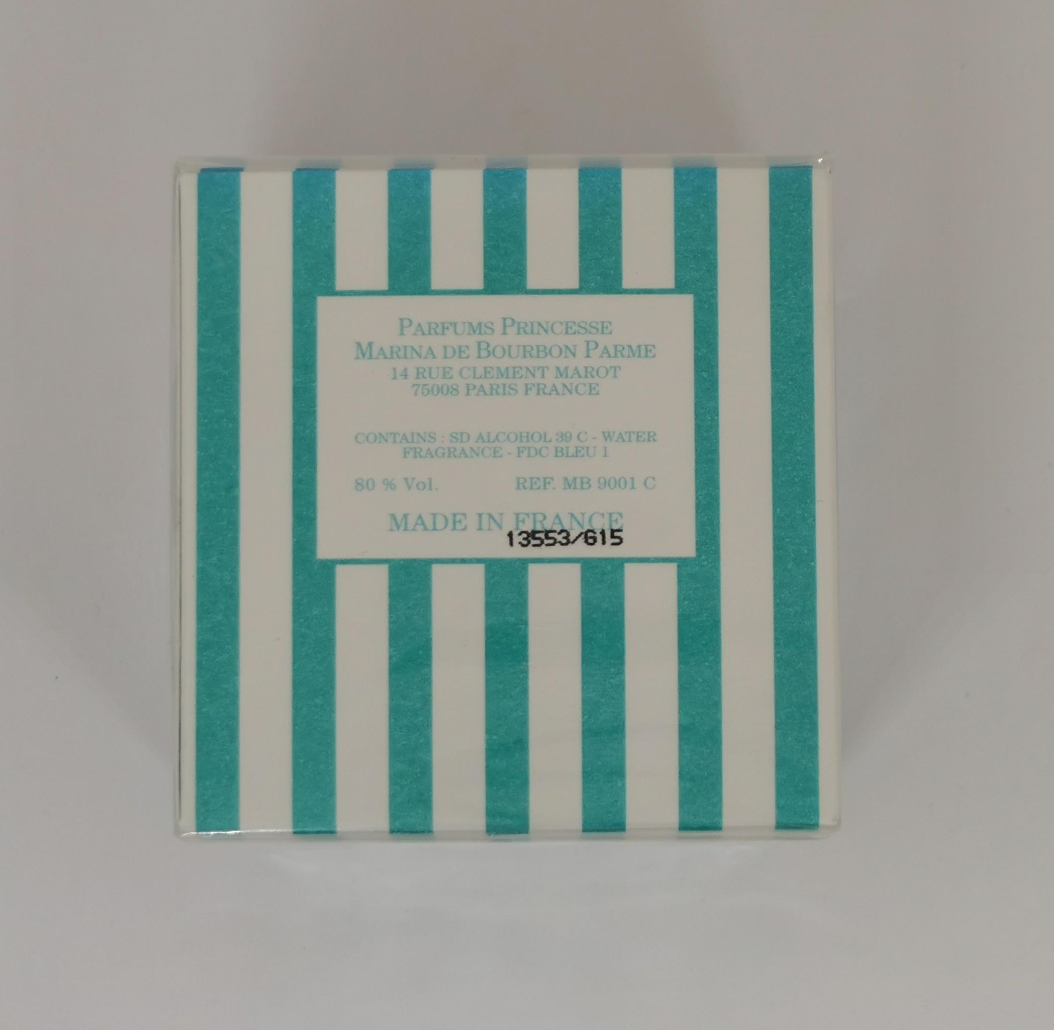 Духи 7.5 мл Princesse Marina De Bourbon Mon Bouquet - фото батч-кода на коробке