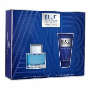 Набор (туалетная вода 50 мл + бальзам после бритья 50 мл) Antonio Banderas Blue Seduction
