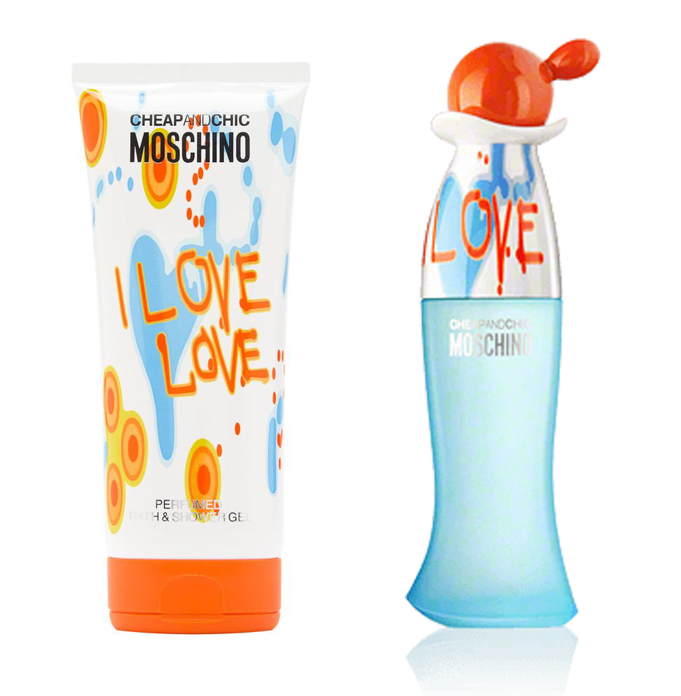 Набор (туалетная вода 50 мл + гель для душа 100 мл) Moschino Cheap and Chic I Love Love