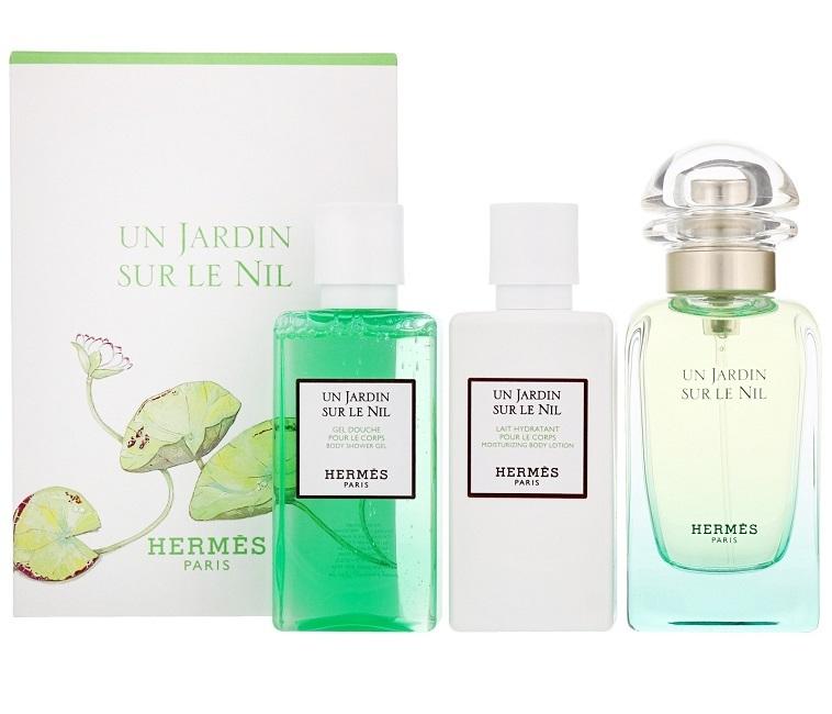 Набор (туалетная вода 50 мл + гель для душа 40 мл + лосьон для тела 40 мл) Hermes Un Jardin Sur Le Nil