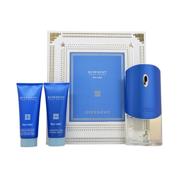 Набор (туалетная вода 100 мл + гель для душа 75 мл + бальзам после бритья 75 мл) Givenchy Givenchy Pour Homme Blue Label