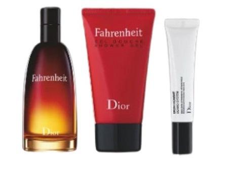 Набор (туалетная вода 50 мл + гель для душа 50 мл + эмульсия после бритья 10 мл) Christian Dior Fahrenheit