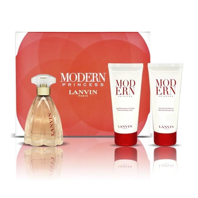 Набор (парфюмерная вода 90 мл + гель для душа 100 мл + лосьон для тела 100 мл) Lanvin Modern Princess