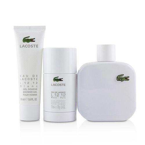 Набор (туалетная вода 100 мл + гель для душа 50 мл + дезодорант-стик 75 мл) Lacoste L 12 12 Blanc