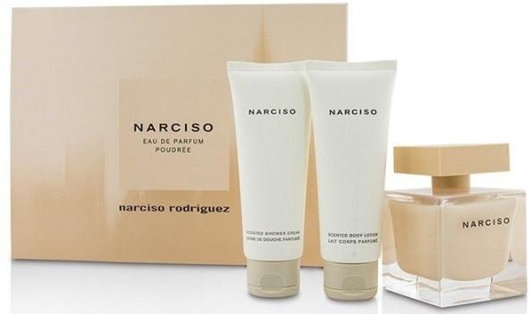 Набор (парфюмерная вода 90 мл + лосьон для тела 75 мл + крем для душа 75 мл) Narciso Rodriguez Narciso Poudree
