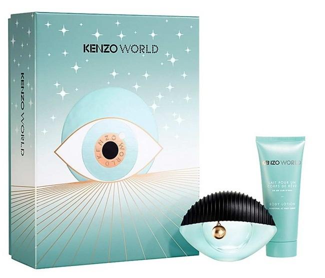 Набор (парфюмерная вода 75 мл + лосьон для тела 75 мл) Kenzo World