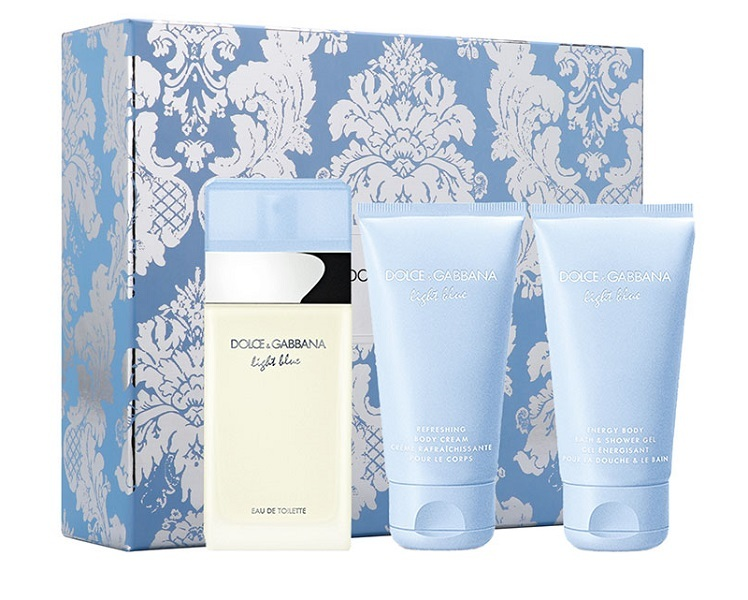 Набор (туалетная вода 50 мл + гель для душа 50 мл + крем для тела 50 мл) Dolce & Gabbana Light Blue