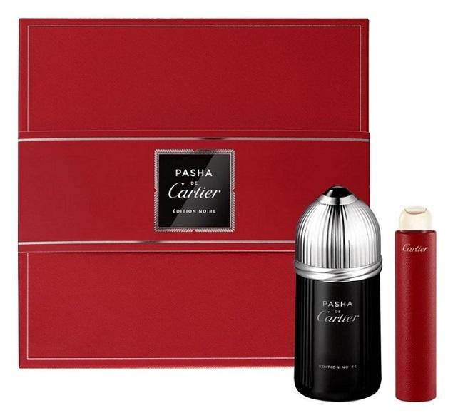 Набор (туалетная вода 100 мл + туалетная вода 15 мл) Cartier Pasha Edition Noire