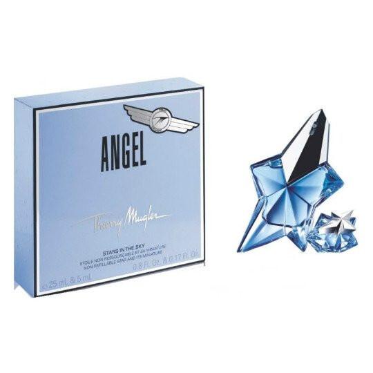Набор (парфюмерная вода 25 мл + парфюмерная вода 5 мл) Thierry Mugler Angel