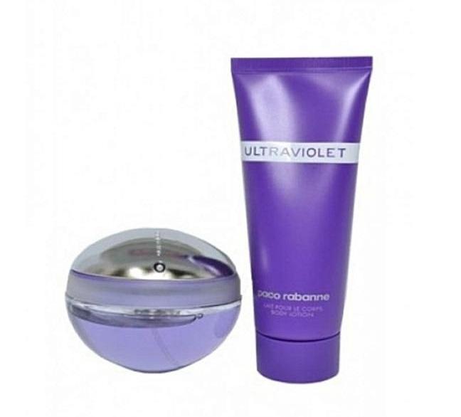 Набор (парфюмерная вода 80 мл + лосьон для тела 100 мл) Paco Rabanne Ultraviolet