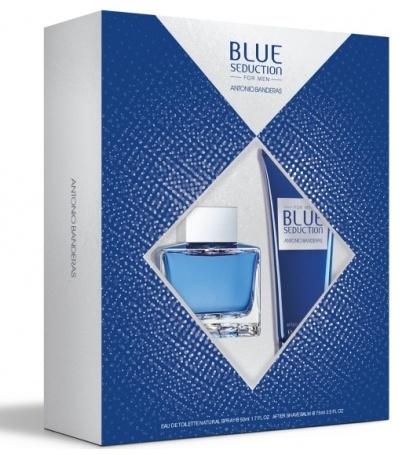 Набор (туалетная вода 50 мл + бальзам после бритья 75 мл) Antonio Banderas Blue Seduction