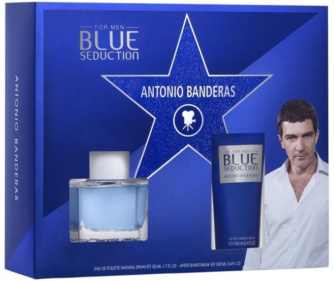 Набор (туалетная вода 50 мл + бальзам после бритья 100 мл) Antonio Banderas Blue Seduction