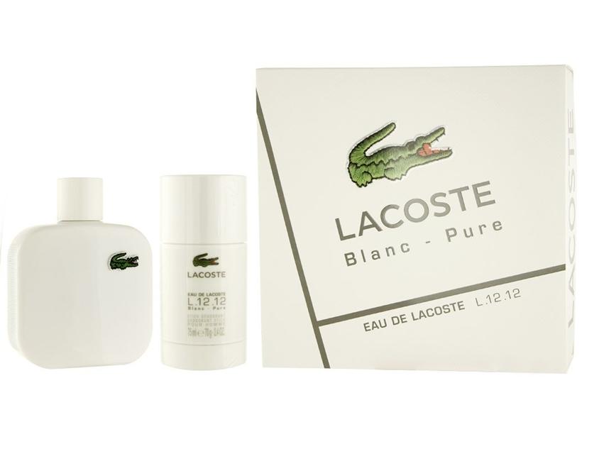 Набор (туалетная вода 50 мл + дезодорант-стик 75 мл) Lacoste L 12 12 Blanc