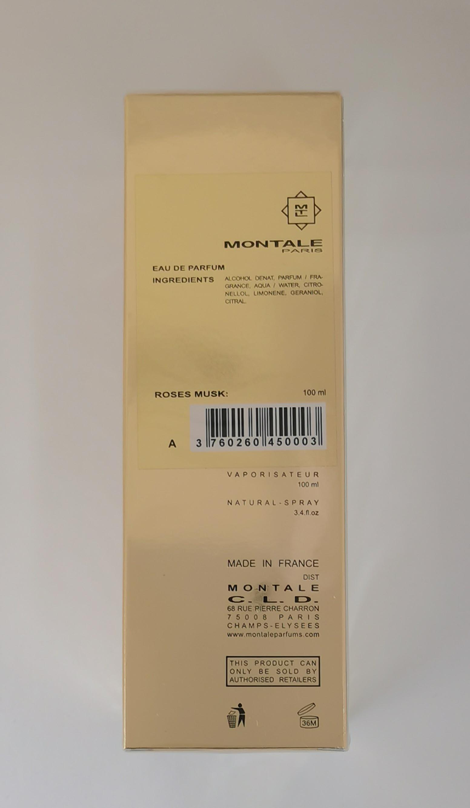 Парфюмерная вода 100 мл Montale Roses Musk - фото штрих-кода на коробке