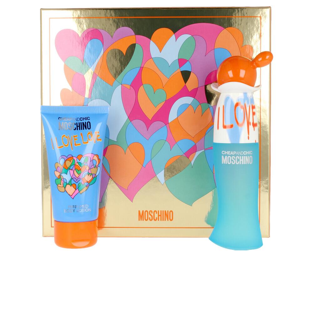 Набор (туалетная вода 30 мл + лосьон для тела 50 мл) Moschino Cheap and Chic I Love Love