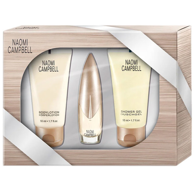 Набор (туалетная вода 15 мл + гель для душа 50 мл + лосьон для тела 50 мл) Naomi Campbell Naomi Campbell