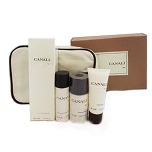 Набор (туалетная вода 50 мл + гель для душа 250 мл + дезодорант-стик 75 мг + бальзам после бритья 50 мл + аксессуар) Canali Canali Men