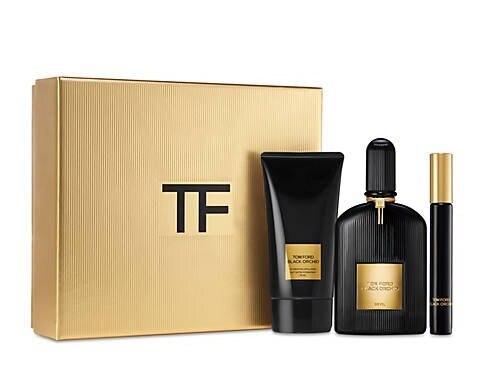 Набор (парфюмерная вода 50 мл + парфюмерная вода 10 мл + лосьон для тела 75 мл) Tom Ford Black Orchid