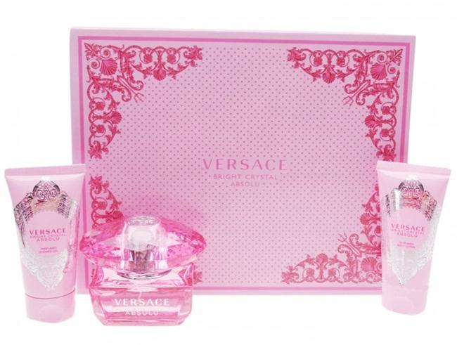 Набор (парфюмерная вода 50 мл + гель для душа 50 мл + лосьон для тела 50 мл) Versace Bright Crystal Absolu