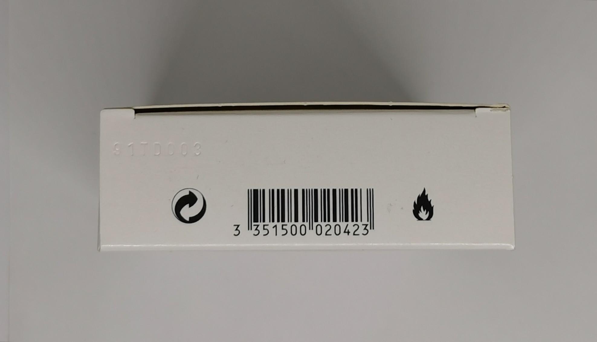 Туалетная вода (тестер) 100 мл Azzaro Chrome - фото штрих-кода и батч-кода на коробке