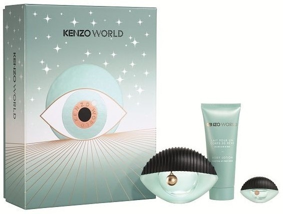 Набор (парфюмерная вода 50 мл + парфюмерная вода 5 мл + лосьон для тела 75 мл) Kenzo World