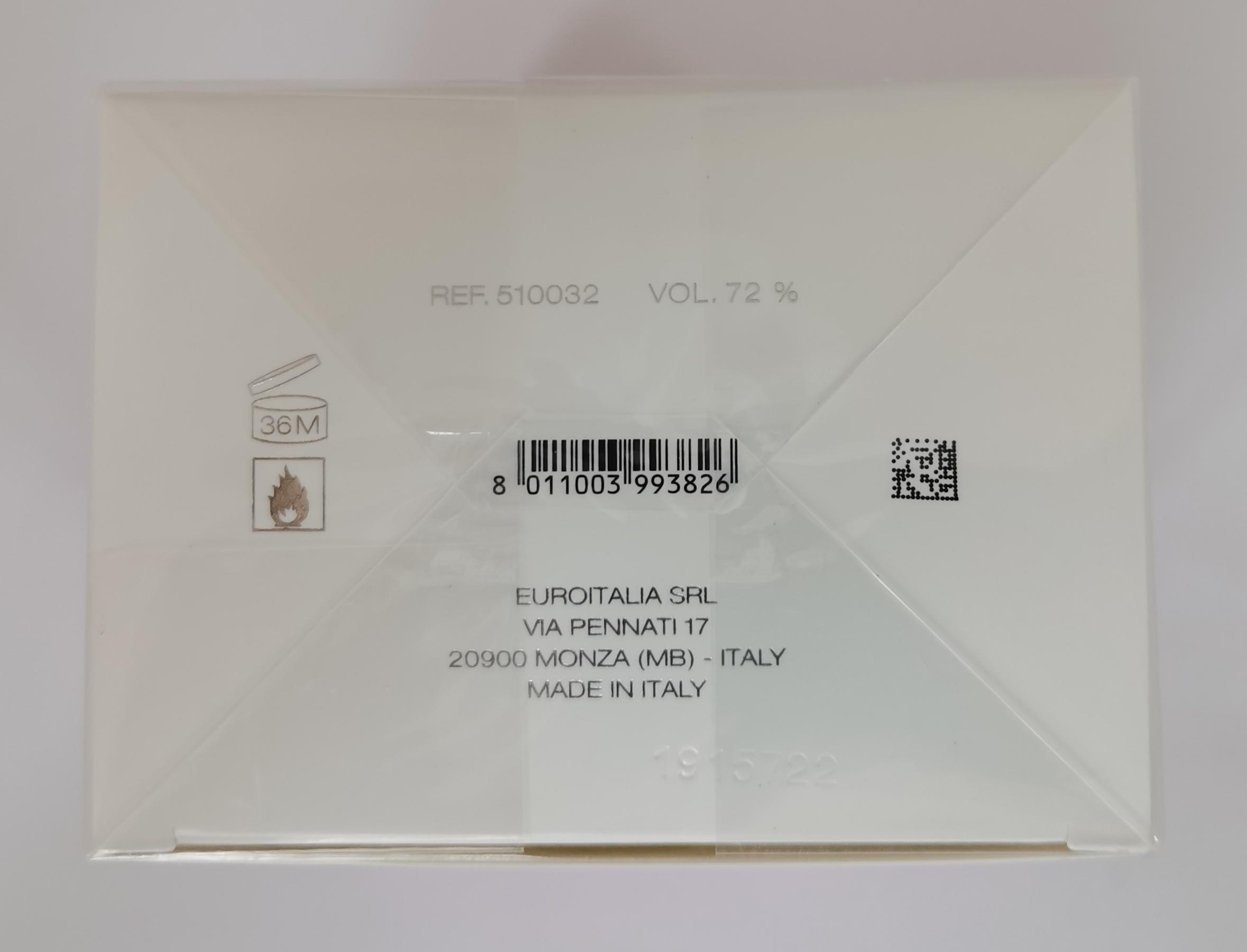 Туалетная вода 90 мл Versace Bright Crystal - фото штрих-кода и батч-кода на коробке