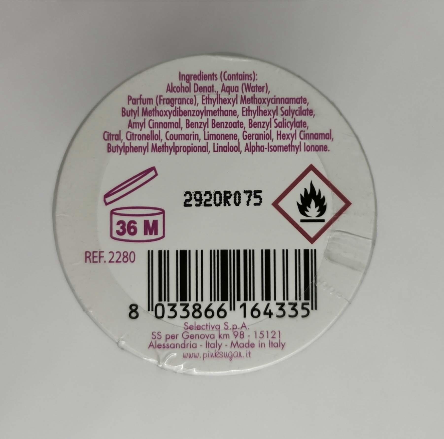 Туалетная вода 100 мл Aquolina Pink Sugar - фото штрих-кода и батч-кода на коробке