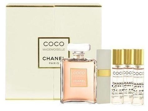 Набор (парфюмерная вода 50 мл + парфюмерная вода 7.5 мл + парфюмерная вода 7.5 мл + парфюмерная вода 7.5 мл + парфюмерная вода 7.5 мл) Chanel Coco Mademoiselle