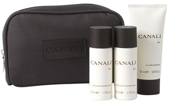 Набор (туалетная вода 50 мл + гель для душа 75 мл + лосьон после бритья 50 мл + косметичка) Canali Canali Men