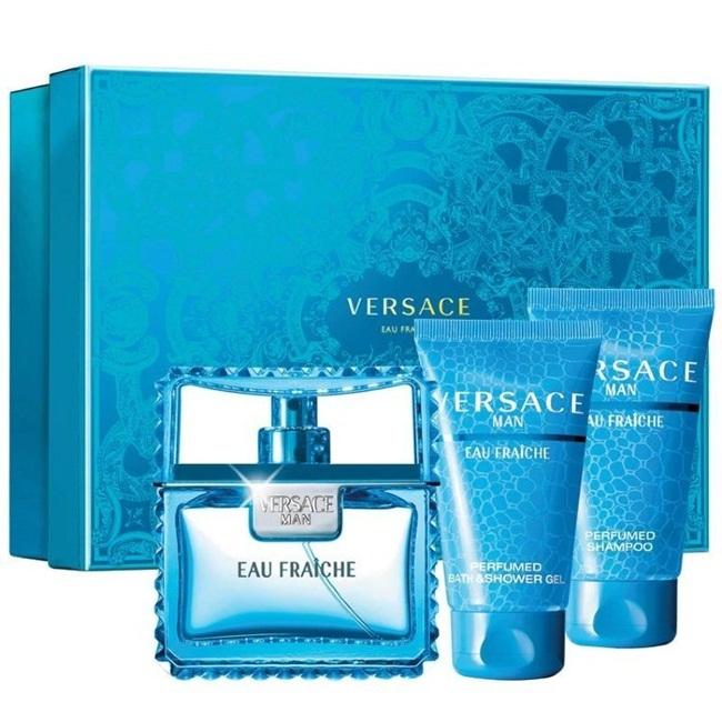 Набор (туалетная вода 50 мл + гель для душа 50 мл + шампунь 50 мл) Versace Versace Man Eau Fraiche