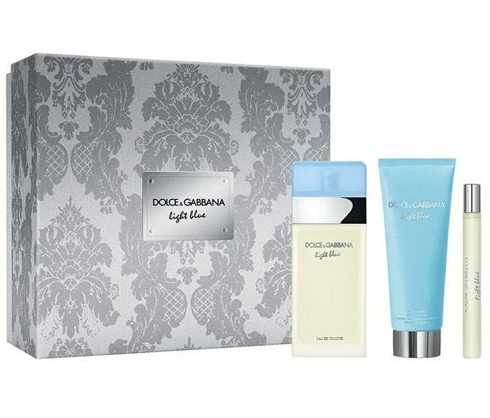 Набор (туалетная вода 100 мл + туалетная вода 10 мл + крем для тела 75 мл) Dolce & Gabbana Light Blue
