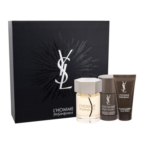 Набор (туалетная вода 100 мл + гель для душа 50 мл + дезодорант-стик 75 мл) Yves Saint Laurent L Homme