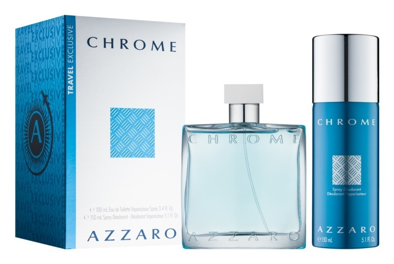 Набор (туалетная вода 100 мл + дезодорант-спрей 150 мл) Azzaro Chrome
