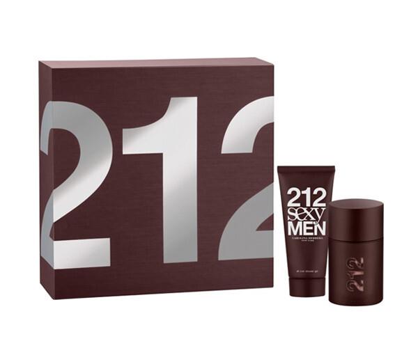 Набор (туалетная вода 50 мл + гель для душа 100 мл) Carolina Herrera 212 Sexy Men