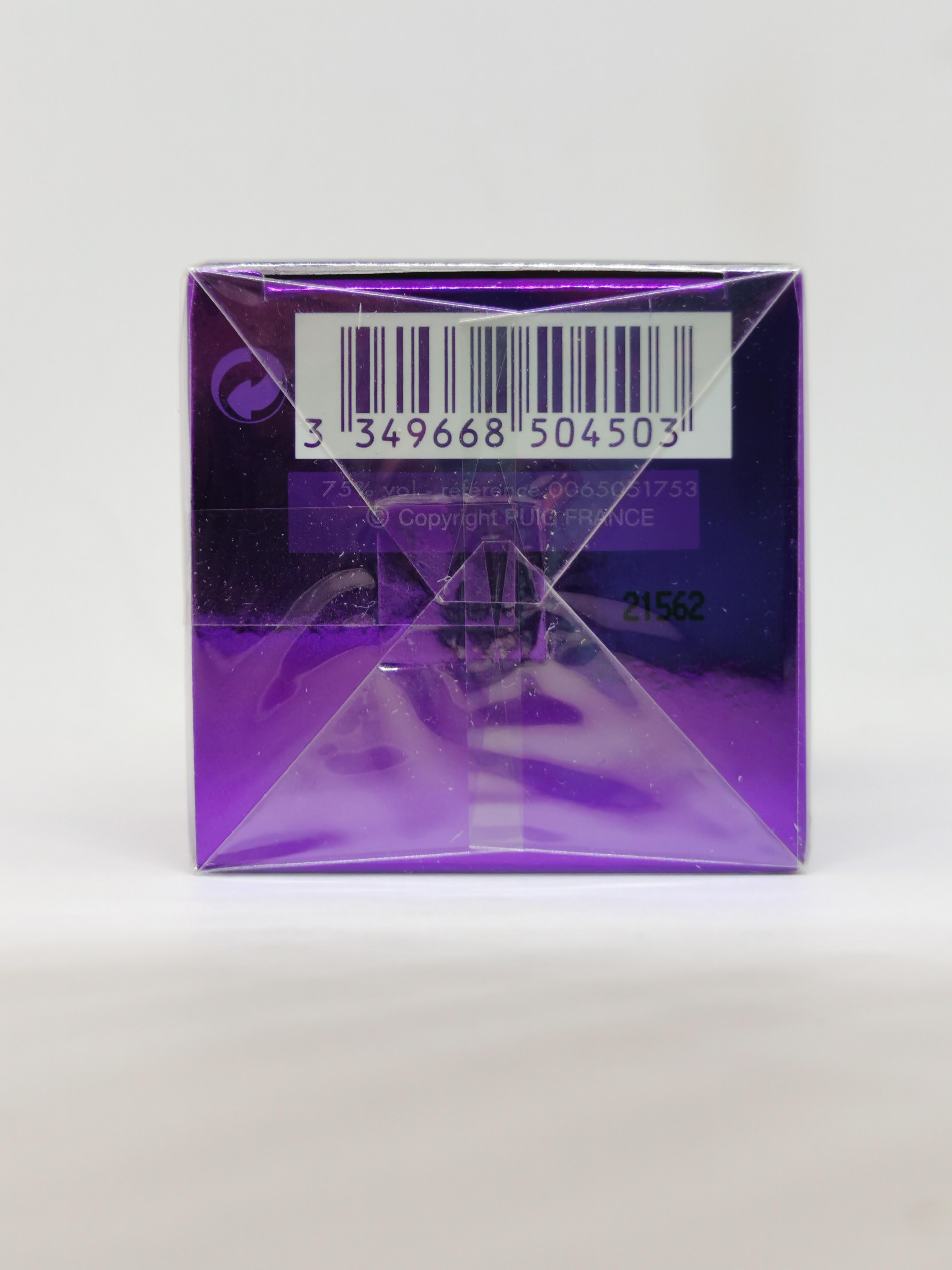 Парфюмерная вода 30 мл Paco Rabanne Ultraviolet - фото штрих-кода и батч-кода на коробке