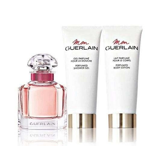 Набор (туалетная вода 50 мл + гель для душа 75 мл + молочко для тела 75 мл) Guerlain Mon Guerlain Bloom of Rose