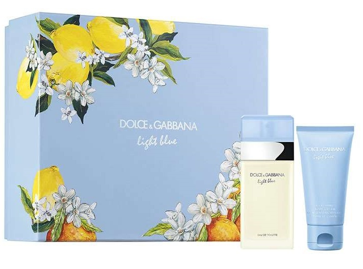 Набор (туалетная вода 50 мл + крем для тела 50 мл) Dolce & Gabbana Light Blue