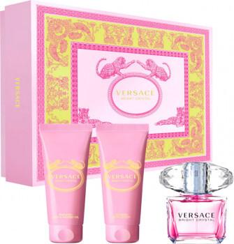 Набор (туалетная вода 50 мл + гель для душа 50 мл + лосьон для тела 50 мл) Versace Bright Crystal
