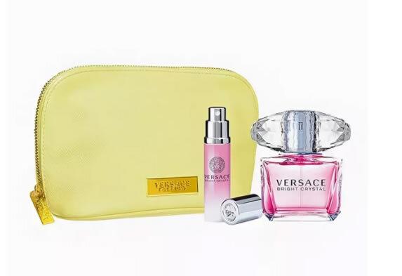 Набор (туалетная вода 90 мл + туалетная вода 10 мл + косметичка) Versace Bright Crystal