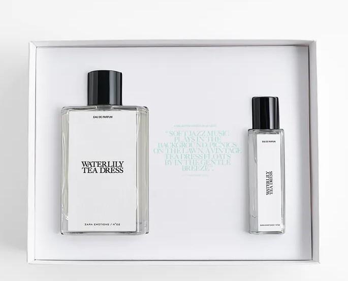 Набор (парфюмерная вода 90 мл + парфюмерная вода 15 мл) Zara Waterlily Tea Dress