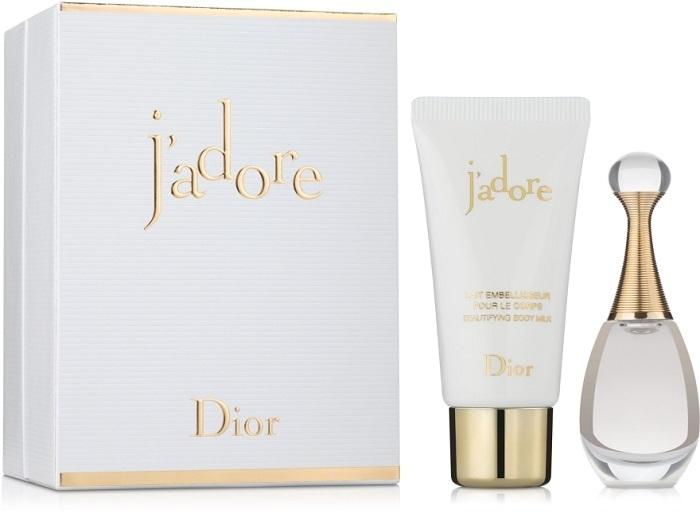 Набор (парфюмерная вода 5 мл + молочко для тела 20 мл) Christian Dior J Adore