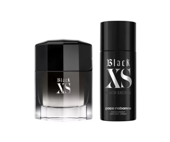 Набор (туалетная вода 100 мл + дезодорант-спрей 150 мл) Paco Rabanne Black XS