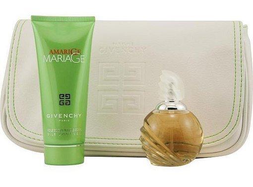 Набор (парфюмерная вода 50 мл + молочко для тела 50 мл + косметичка) Givenchy Amarige Mariage