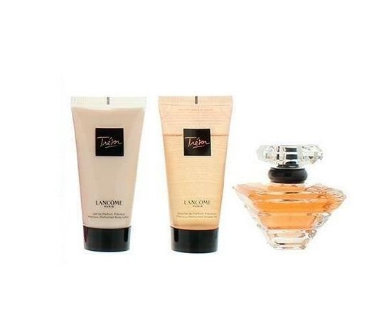 Набор (парфюмерная вода 50 мл + гель для душа 50 мл + лосьон для тела 50 мл) Lancome Tresor