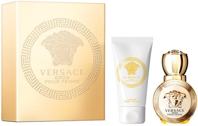 Набор (парфюмерная вода 30 мл + лосьон для тела 50 мл) Versace Eros Pour Femme