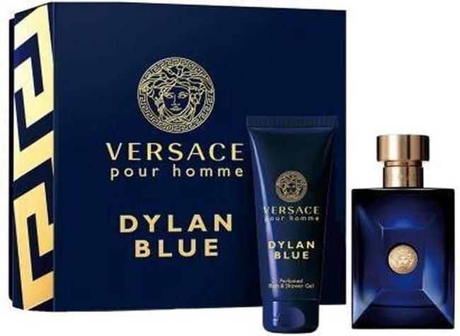 Набор (туалетная вода 50 мл + гель для душа 50 мл) Versace Versace Pour Homme Dylan Blue