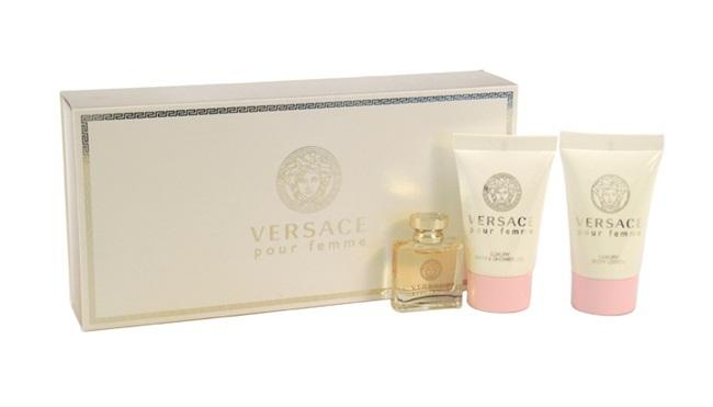 Набор (парфюмерная вода 5 мл + лосьон для тела 25 мл + лосьон для тела 25 мл) Versace Versace