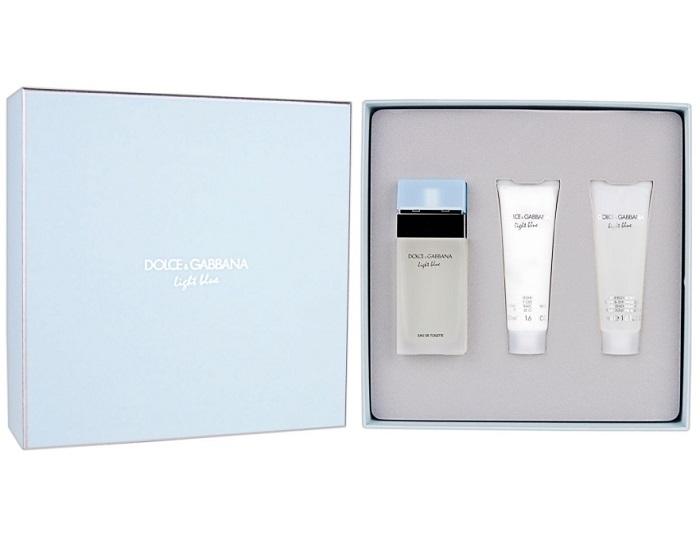 Набор (туалетная вода 50 мл + гель для душа 50 мл + лосьон для тела 50 мл) Dolce & Gabbana Light Blue