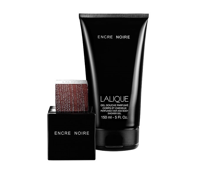 Набор (туалетная вода 50 мл + гель для душа 150 мл) Lalique Encre Noire