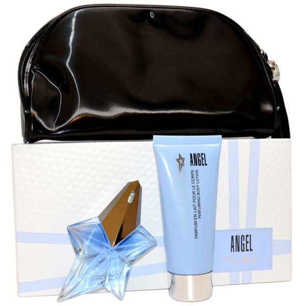 Набор (парфюмерная вода 25 мл + лосьон для тела 100 мл + косметичка) Thierry Mugler Angel
